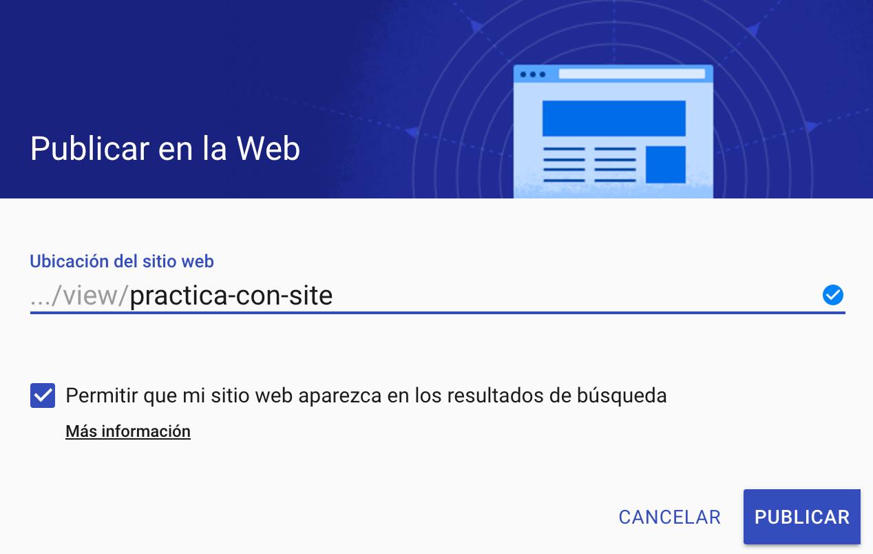 Publicar la web
