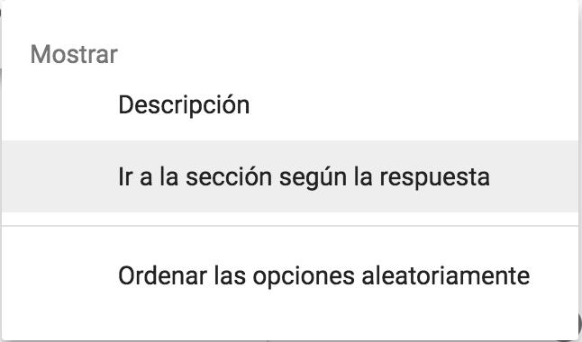 Opciones elemento formulario